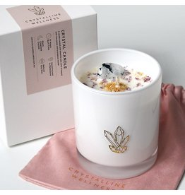 Crystalline Wellness Large Glass Soy Candle - Moonstone