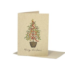 Deer Daisy Christmas Celebration Greeting Card