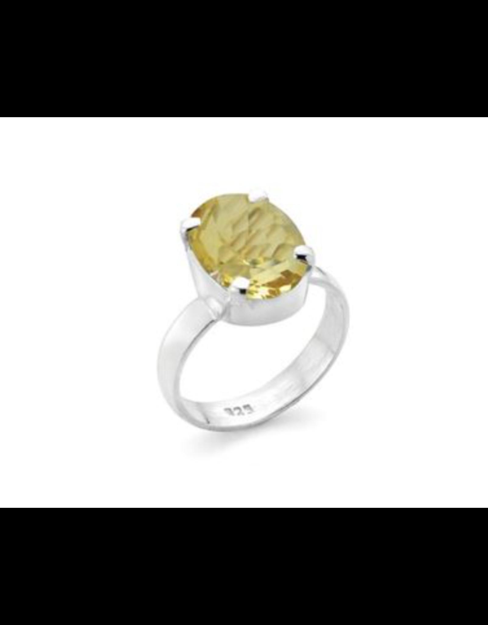 Stones & Silver Citrine Ring