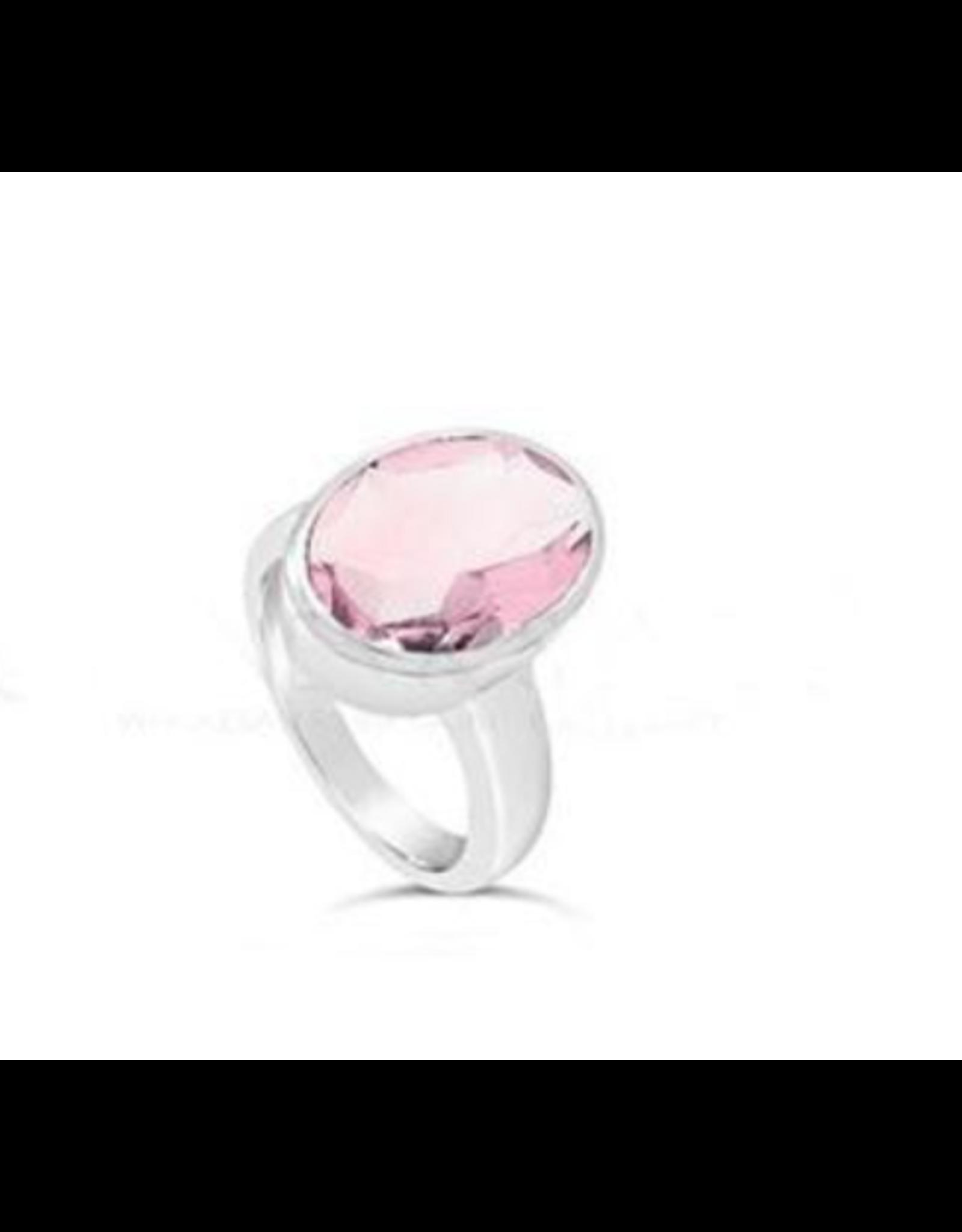 Stones & Silver Rose Quartz Ring 10mmx14mm