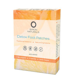 Byron Naturals Detox Foot Patches x 14 Patches (7 pairs)