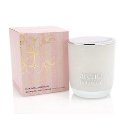 AromaBotanicals Glass Candle - Marshmallow & Rose 185g