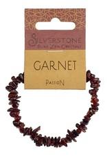 Silverstone Crystal Chip Bracelet - Garnet - Eco Range