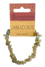 Silverstone Crystal Chip Bracelet - Labradorite - Eco Range