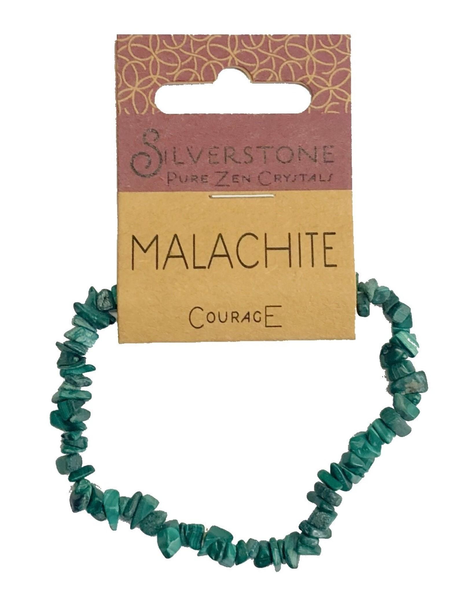 Silverstone Crystal Chip Bracelet - Malachite - Eco Range