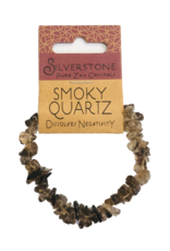 Silverstone Crystal Chip Bracelet - Smoky Quartz - Eco Range
