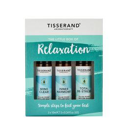 Tisserand Essential Oil Blend Roller Ball A Little Box Of Relaxation Kit 10ml x 3 Pack