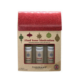 Tisserand Roller Ball Kit Find Your Motivation Baubles 10ml x 3 Pack