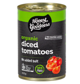 Honest To Goodness Canned Diced Tomatoes - 400g