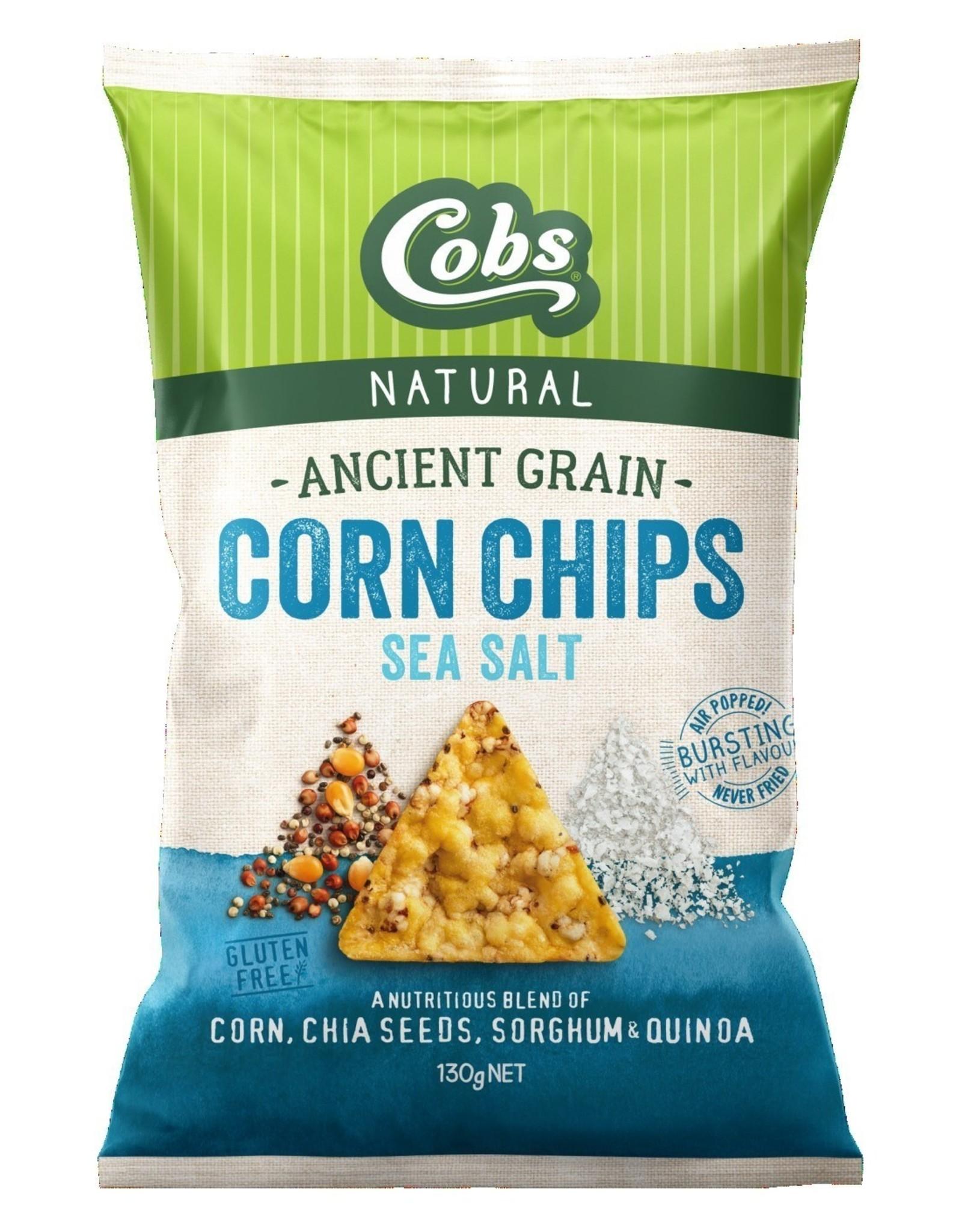 Cobs Ancient Grain Corn Chips Sea Salt 130g