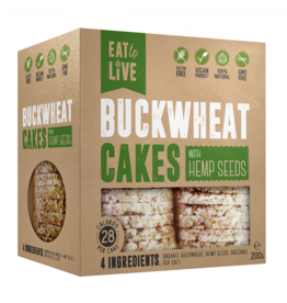Eat to Live Buckwheat Cakes with Hemp Seeds 200g