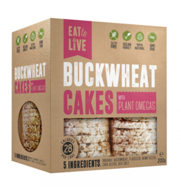 Eat to Live Buckwheat Cakes with Plant Omegas 200g
