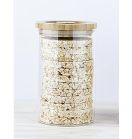 Eat to Live Glass Storage Jar with Wooden Lid to fit Buckwheat Cakes