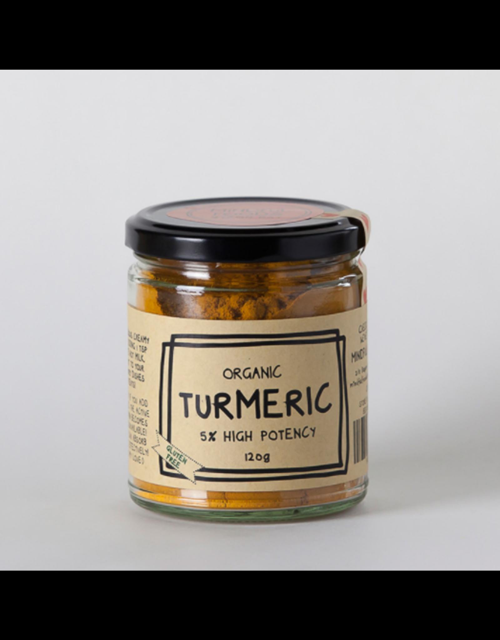 Mindful Foods Organic Turmeric (High Potency 5% Curcumin) 120g Jar