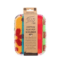 Eco Basics Cotton Flat Pot Scrubber 2pk