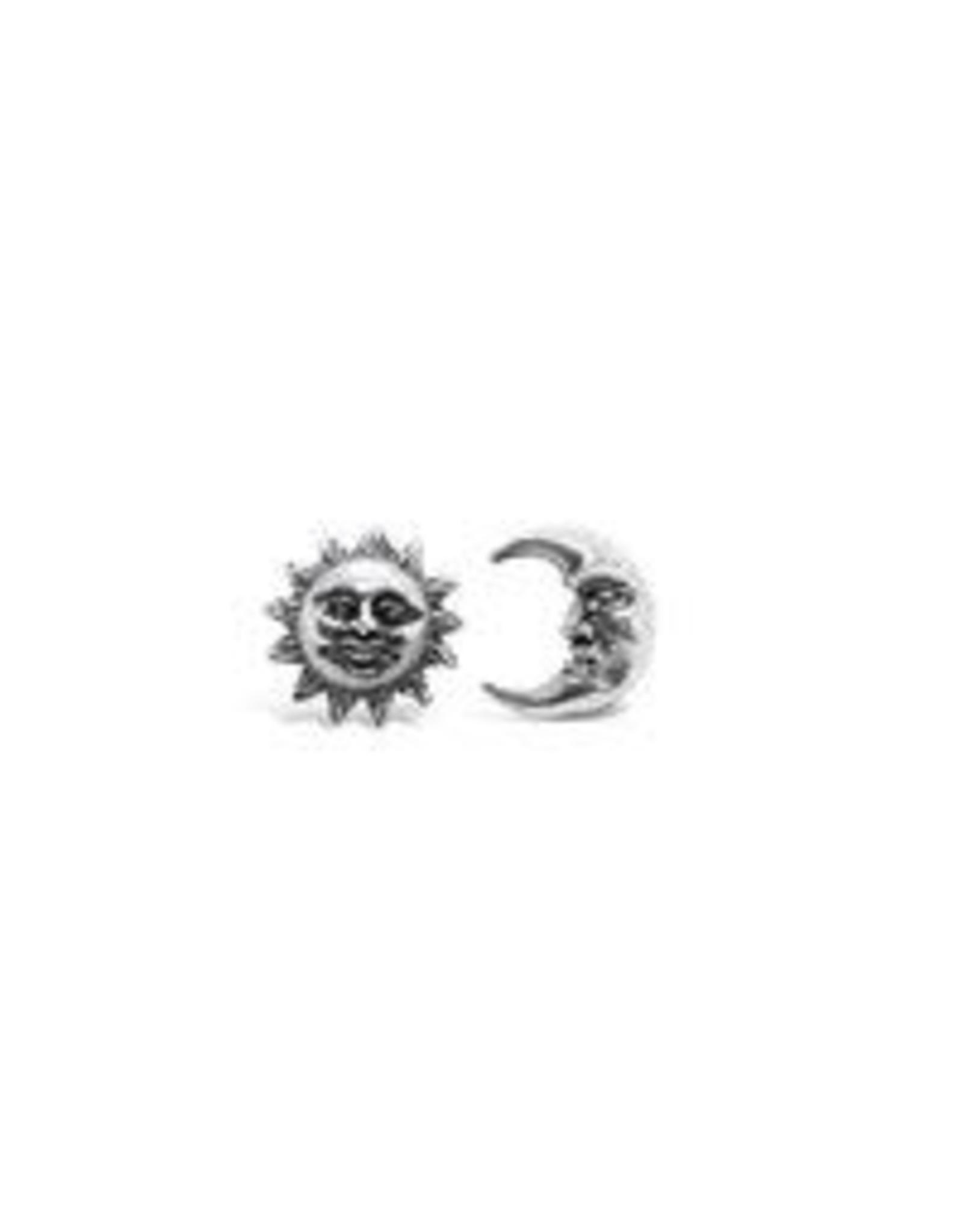 Stones & Silver Sun & Moon Studs