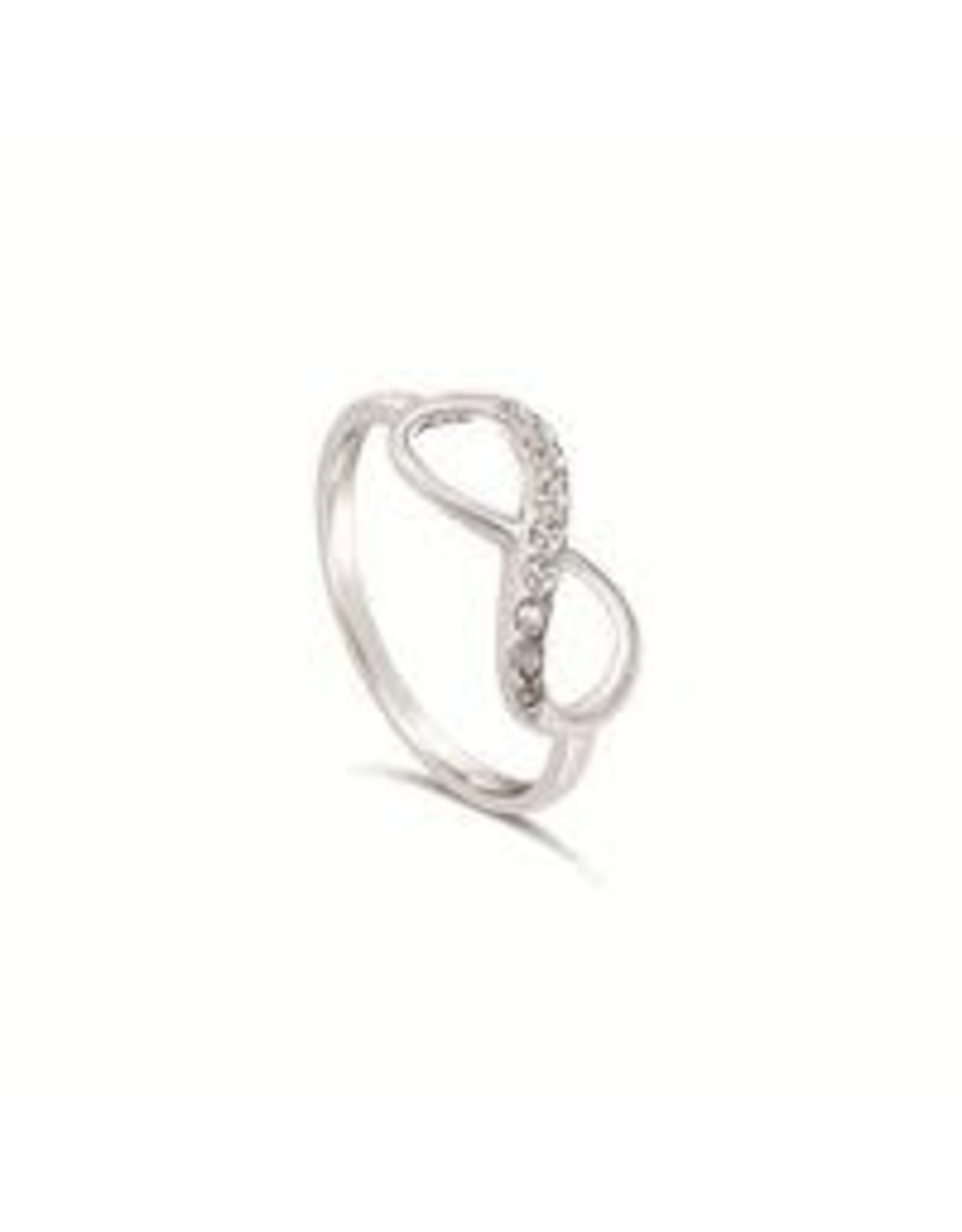 Stones & Silver Infinity Ring with Cubic Zirconia