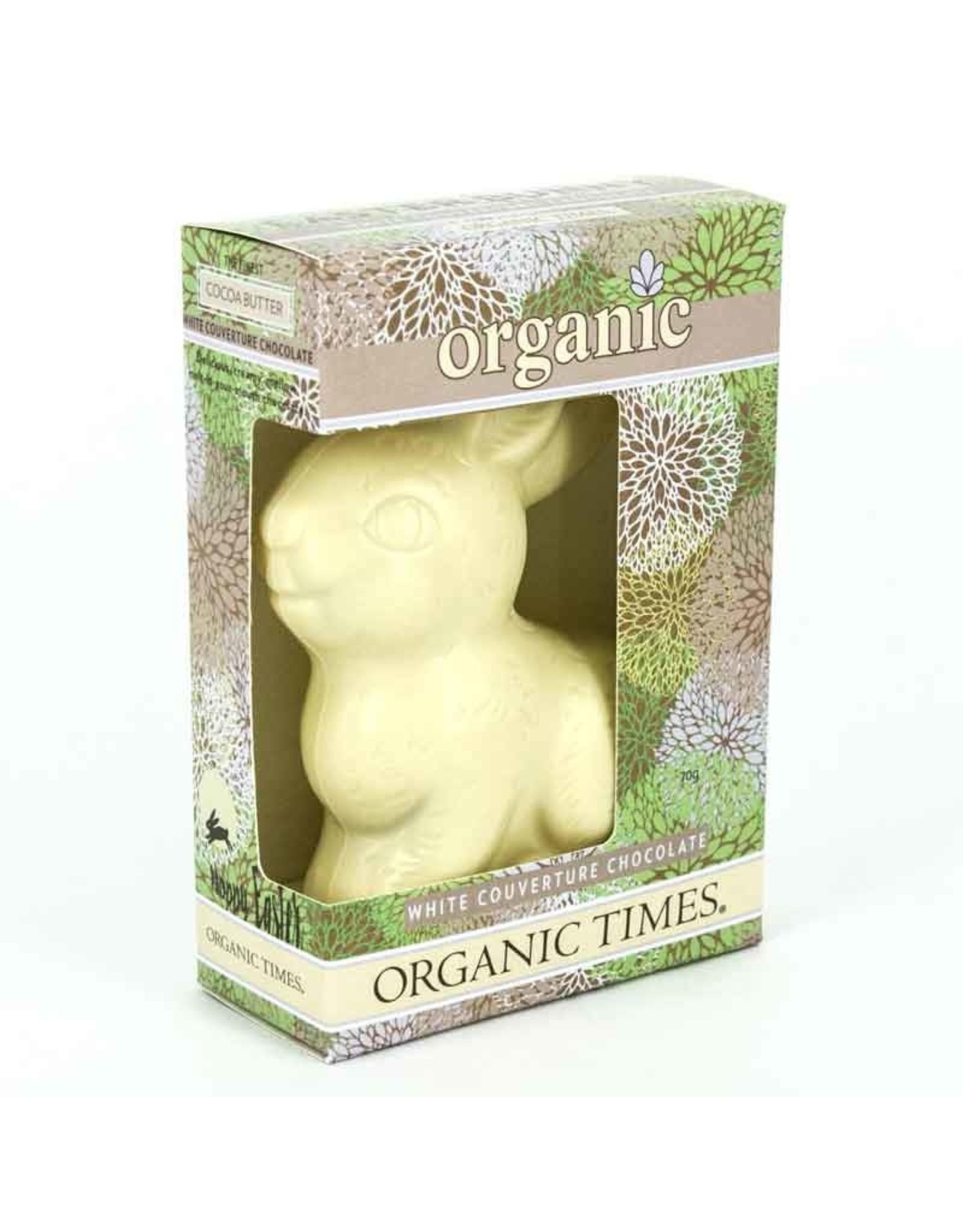 Organic Times Organic White Chocolate Easter Bunny 70gm