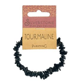 Silverstone Crystal Chip Bracelet - Black Tourmaline - Eco Range