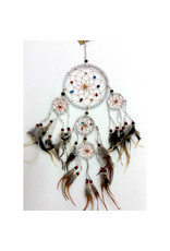 Dream Catcher Leather Crystals White Small