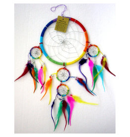 Dream Catcher Cotton Feather Rainbow 16cm