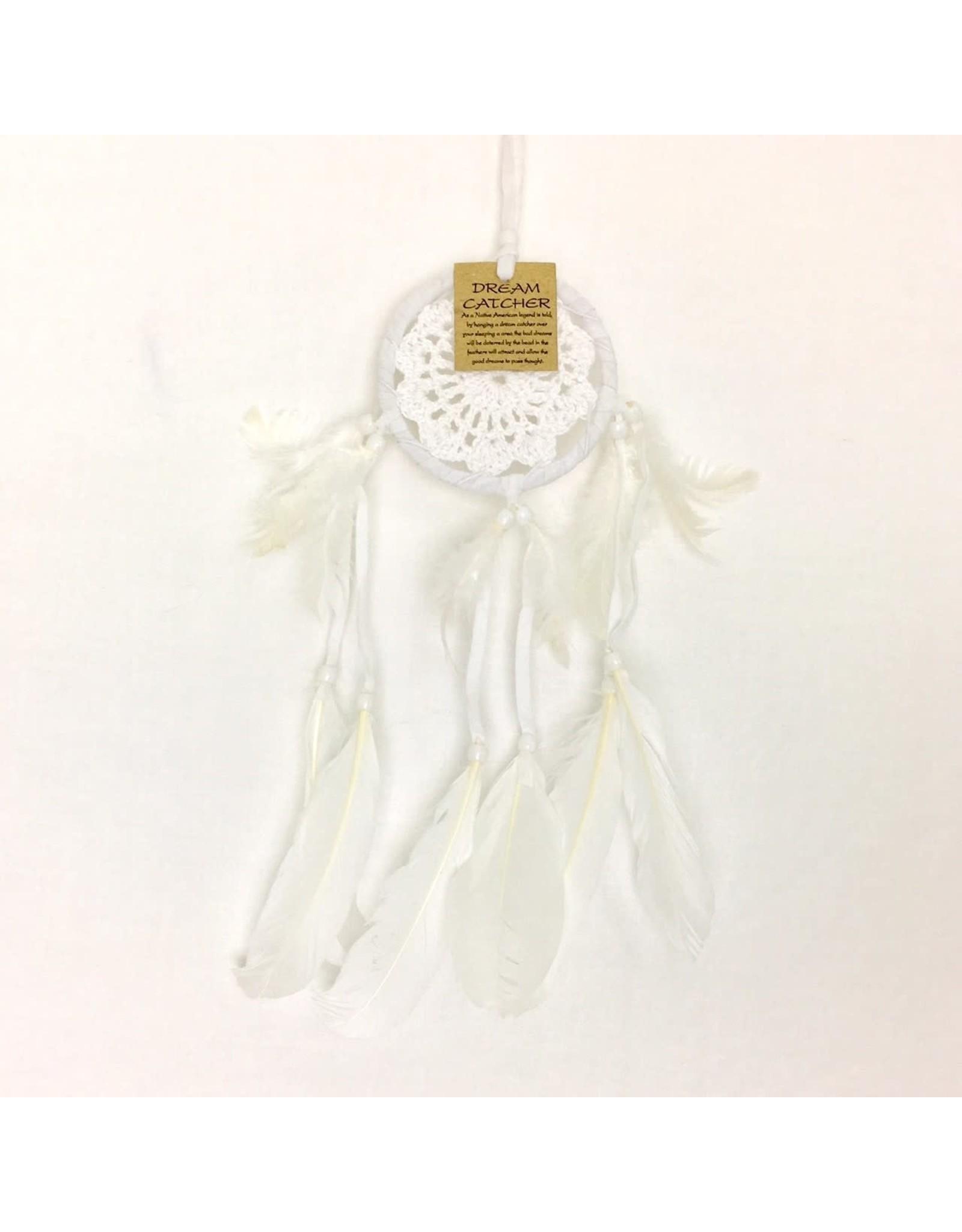 Dream Catcher Crochet White Mini 9cm