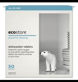 EcoStore Dishwasher Tablets (30 Washes)  Fragrance Free (Bulk) 30 tabs