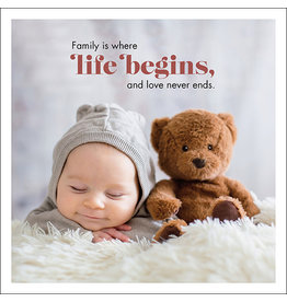 Affirmations Publishing House Family is Where Life Begins Greeting Card