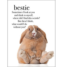 Affirmations Publishing House Bestie Animal Greeting Card