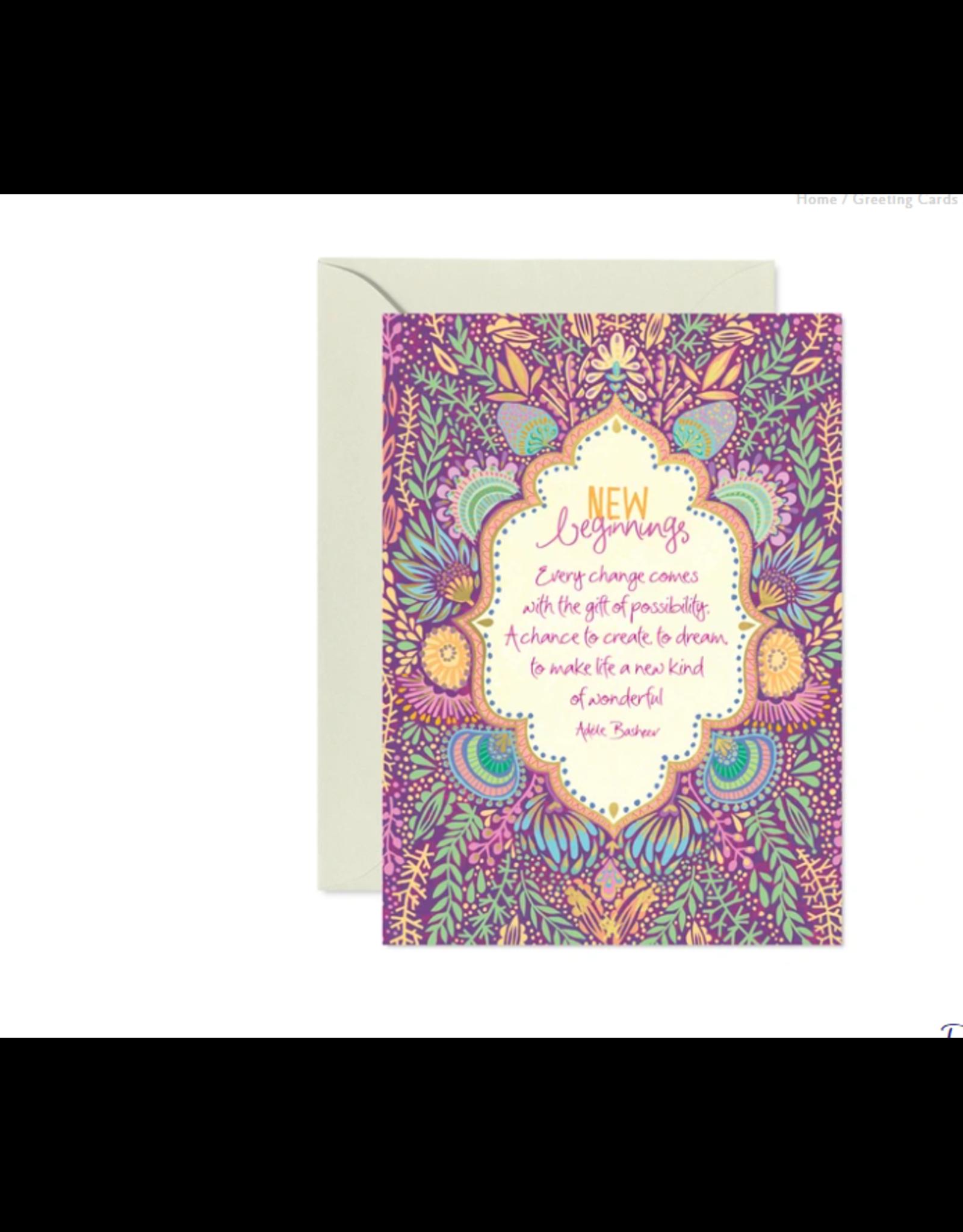 Intrinsic New Beginnings Greeting Card