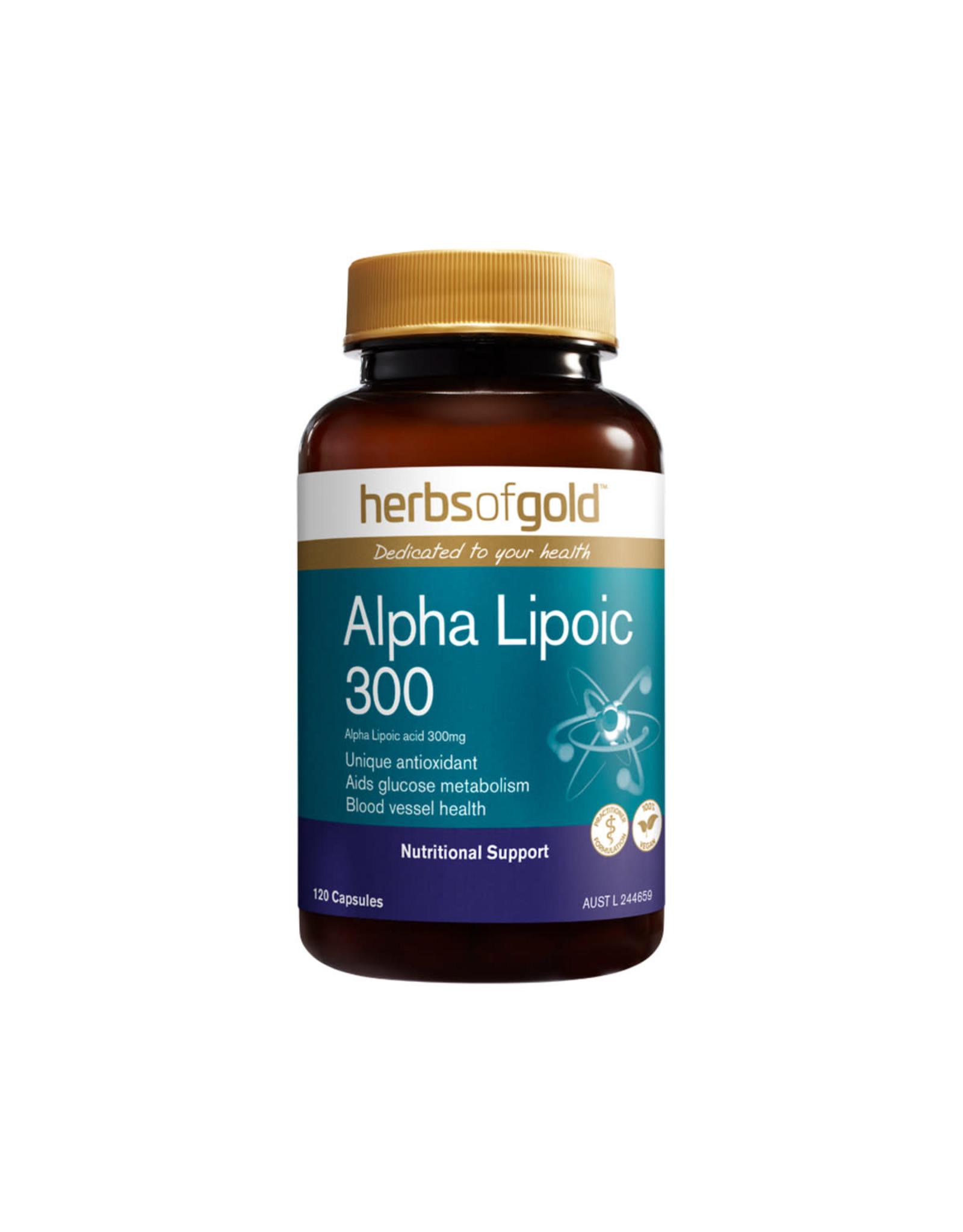 Herbs of Gold Alpha Lipoic 300