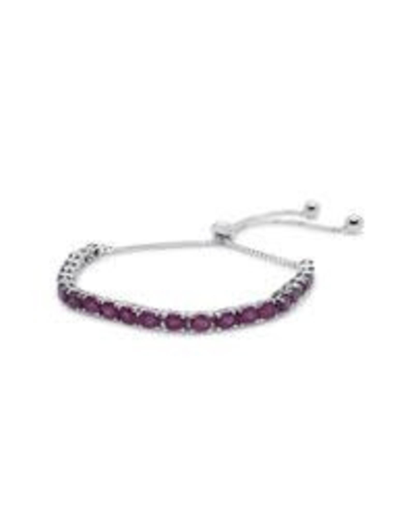 Stones & Silver Ruby Gemstone Lariat Bracelet (925 S/S)