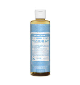 Dr Bronner's Pure Castile Soap Liquid (Hemp 18-in-1) Baby Unscented 237ml