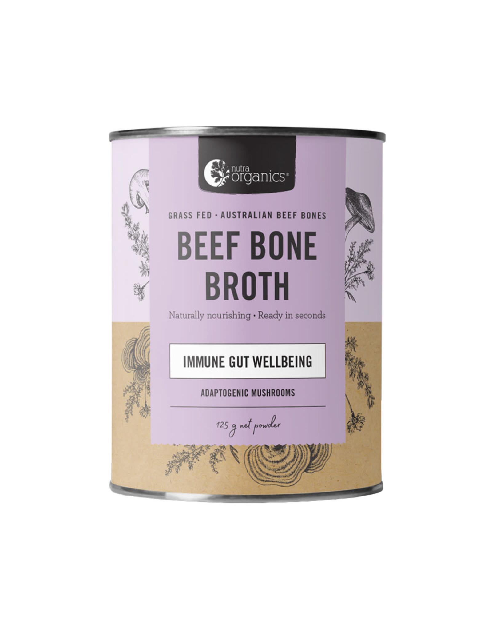 NutraOrganics Beef Bone Broth Hearty Mushroom 125g Powder