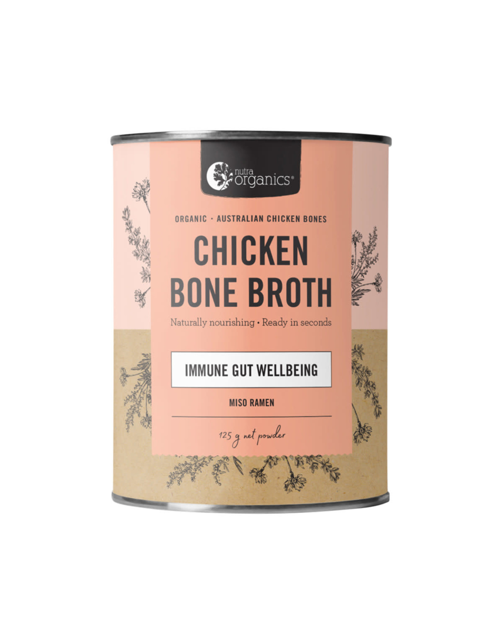 NutraOrganics Chicken Bone Broth Miso Ramen 125g