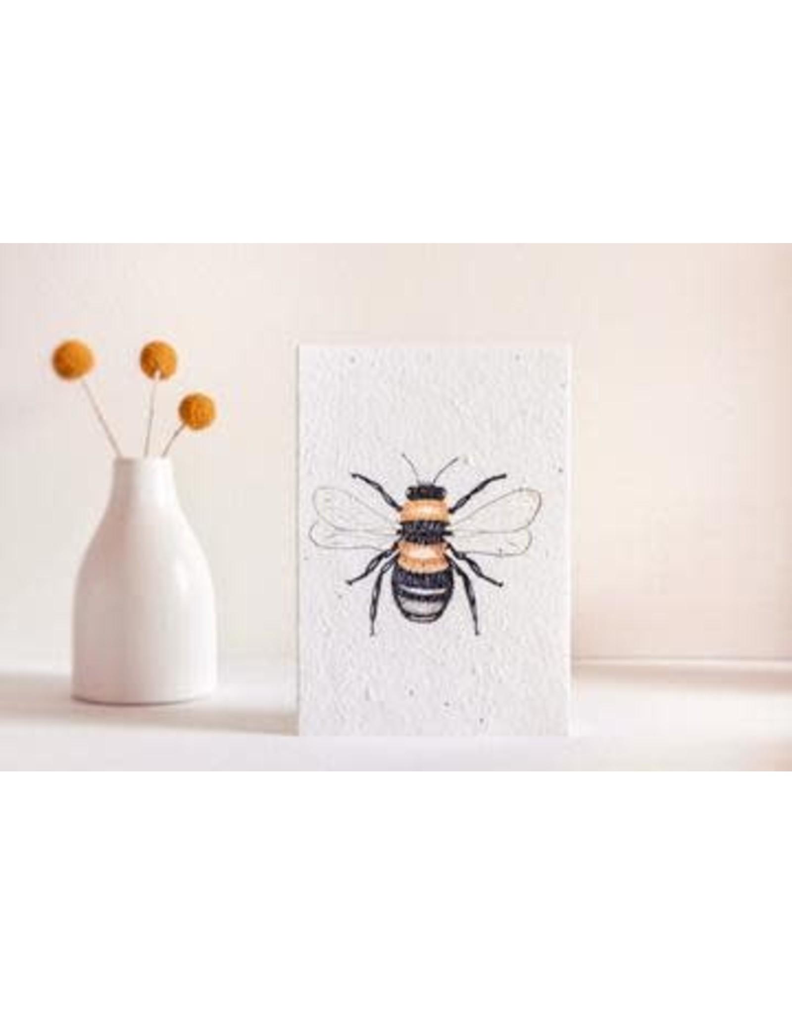 Hello Petal Honey Bee Blooming Card