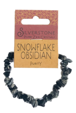 Silverstone Crystal Chip Bracelet - Snowflake Obsidian - Eco Range