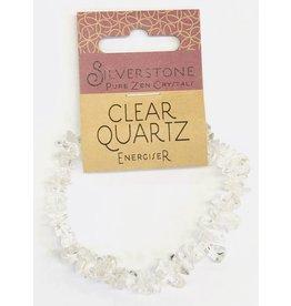 Silverstone Crystal Chip Bracelet - Clear Quartz - Eco Range