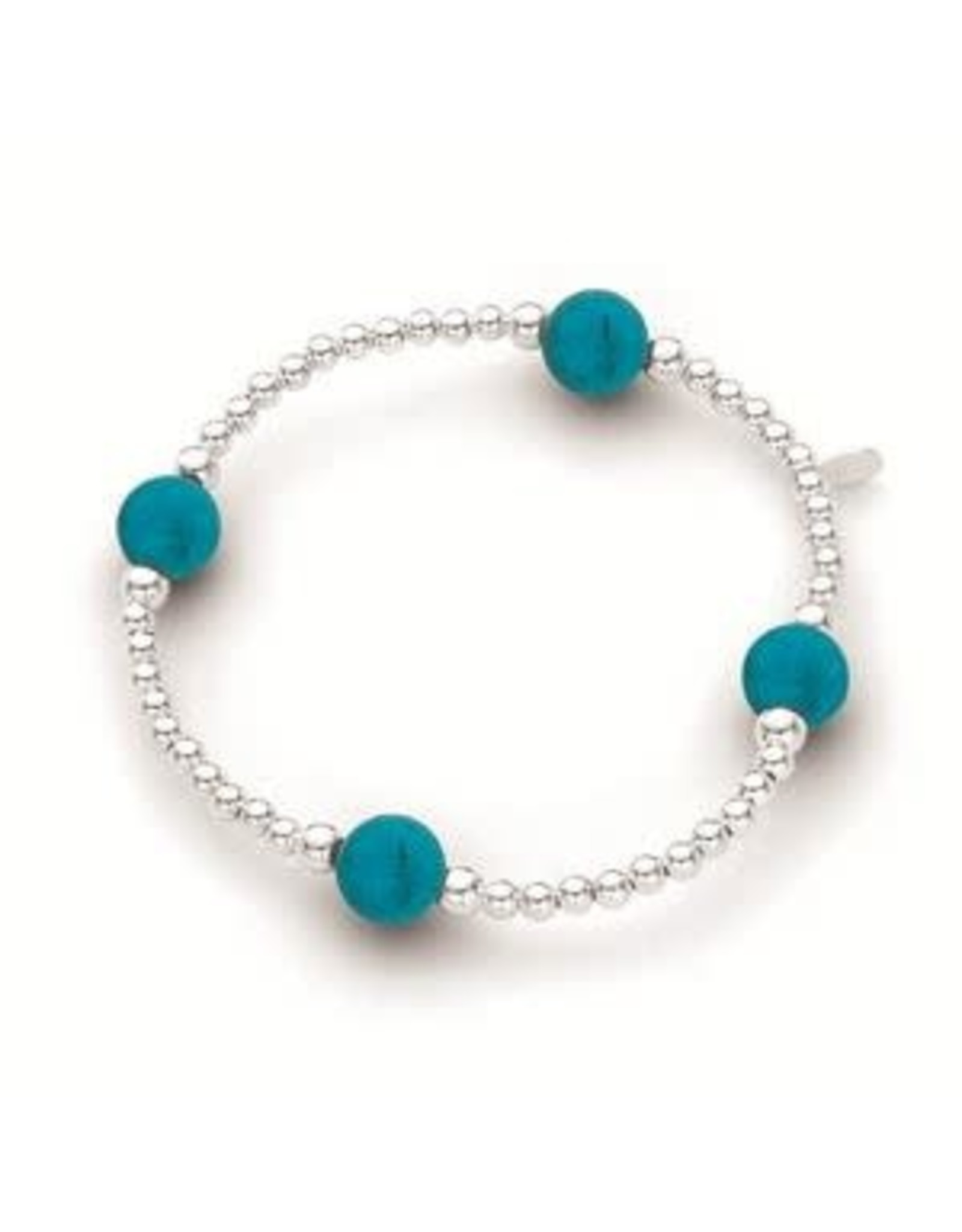Elastic Ball Bracelet with Turquoise 3mm