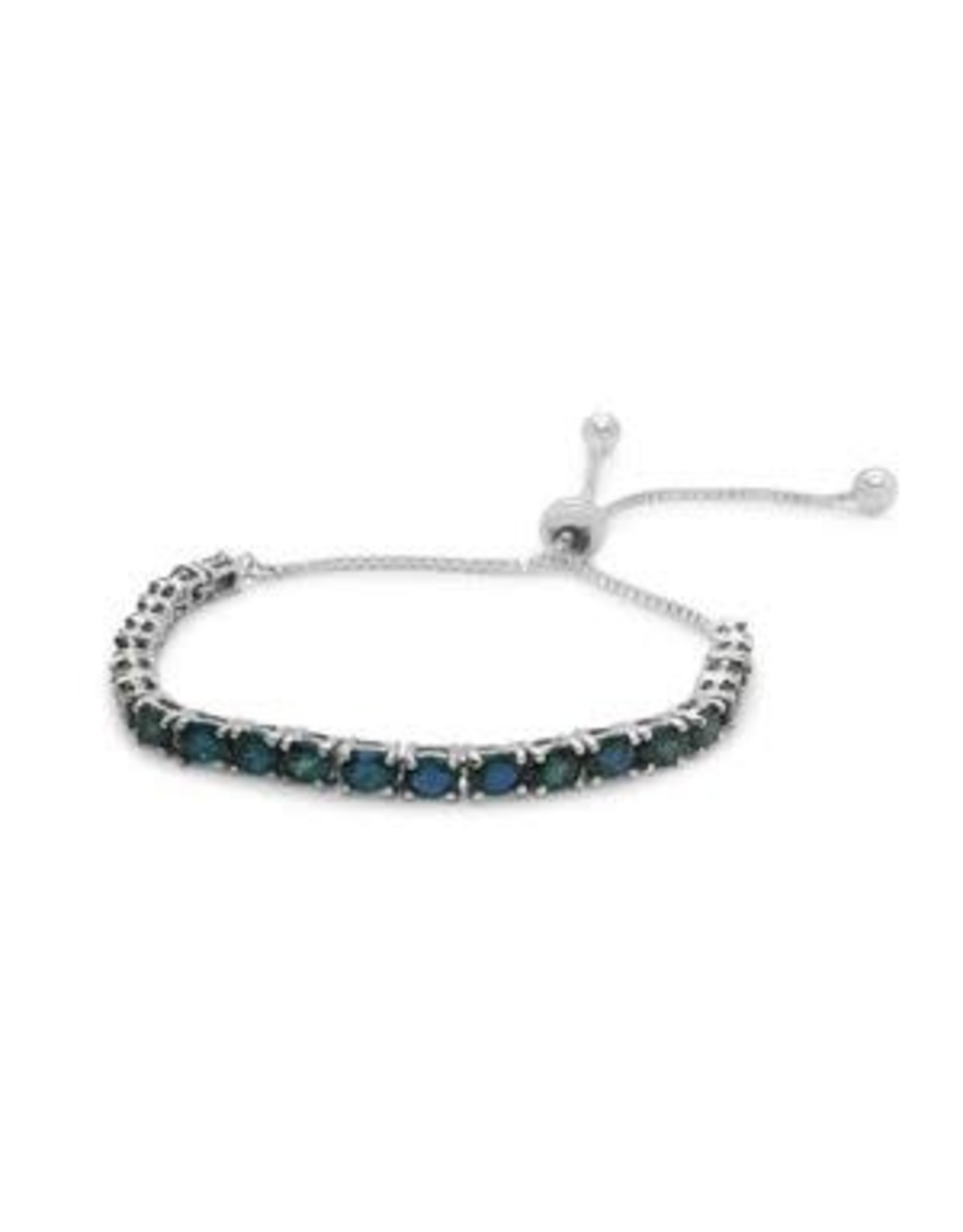 Stones & Silver Sapphire Gemstone Lariat Bracelet (925 S/S)