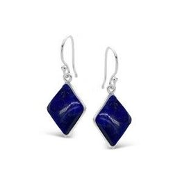 Lapis Lazuli Stone Earrings 10 x 14mm