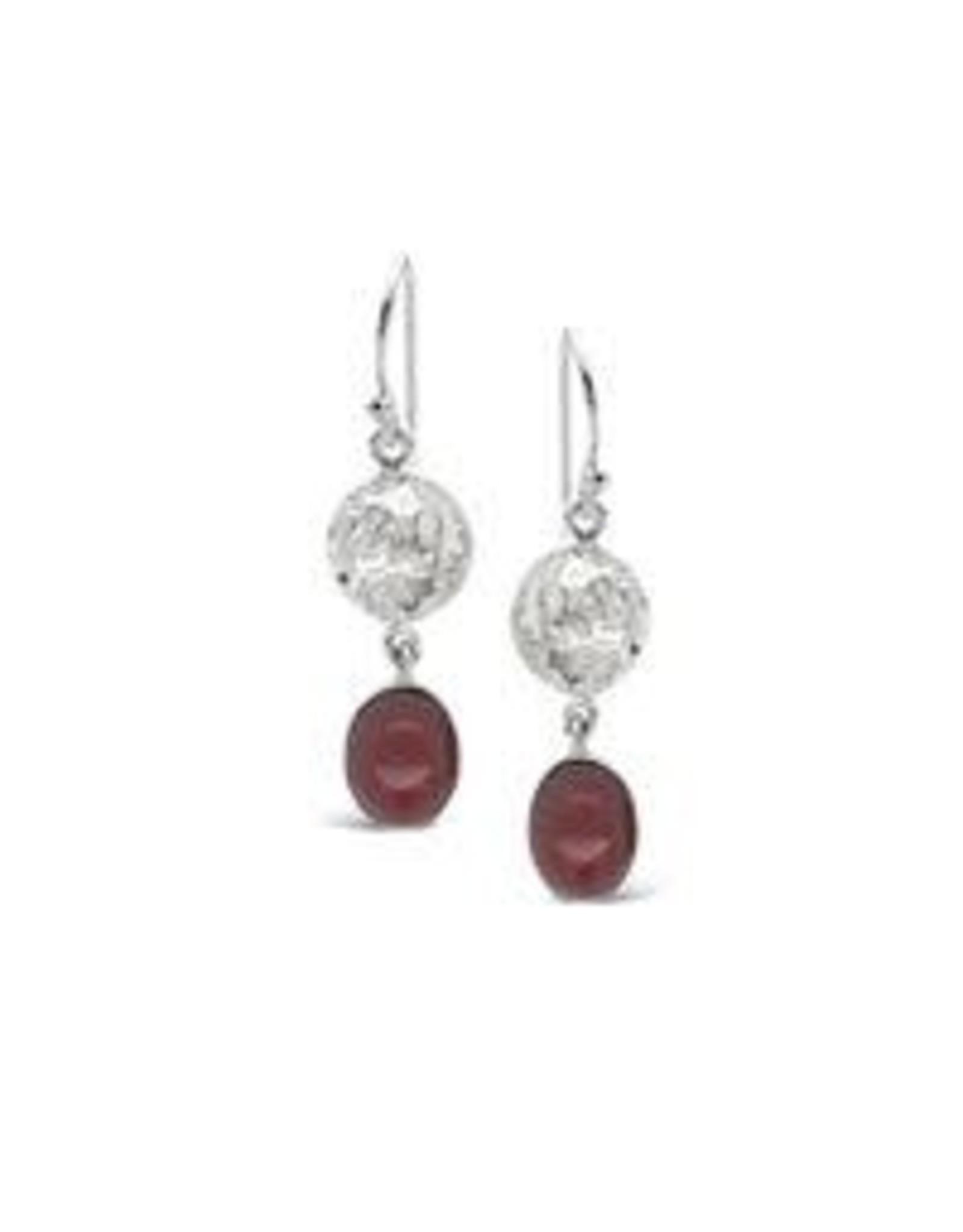 Beaten Earrings (925 Sterling Silver)