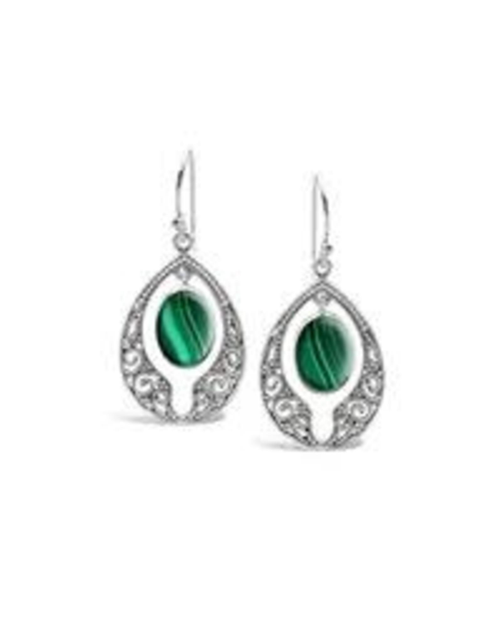 Malachite and Pattern Earrings