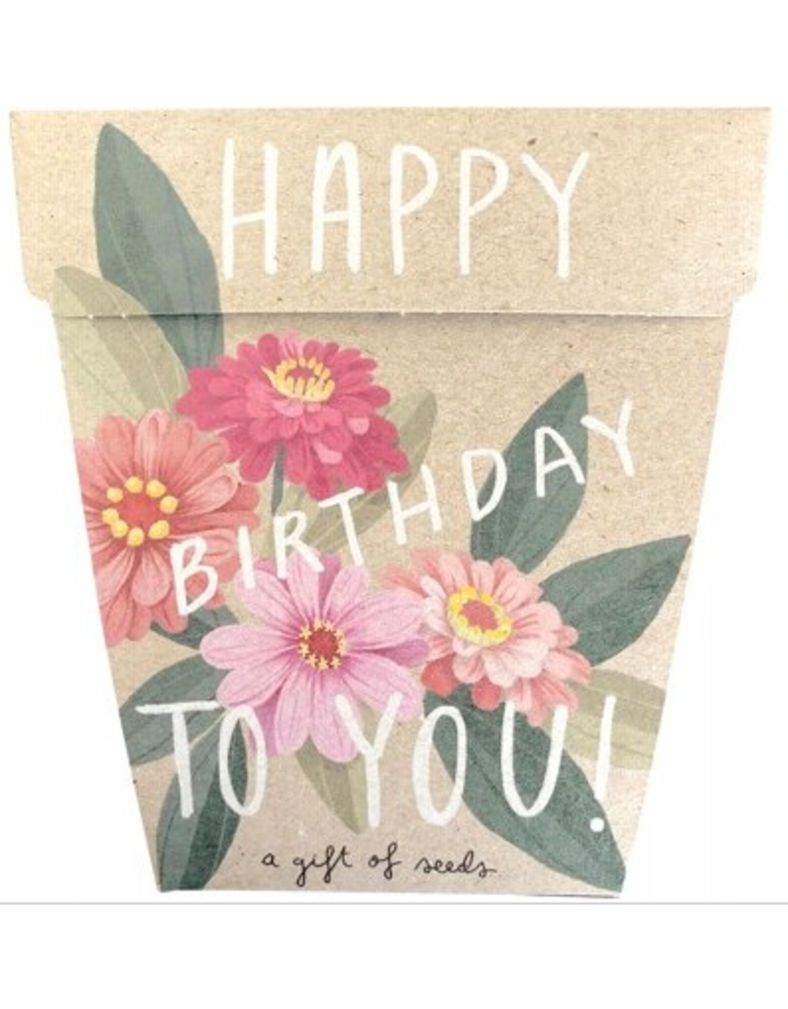 Sow 'N Sow Gift of Seeds - Happy Brithday Zinnia