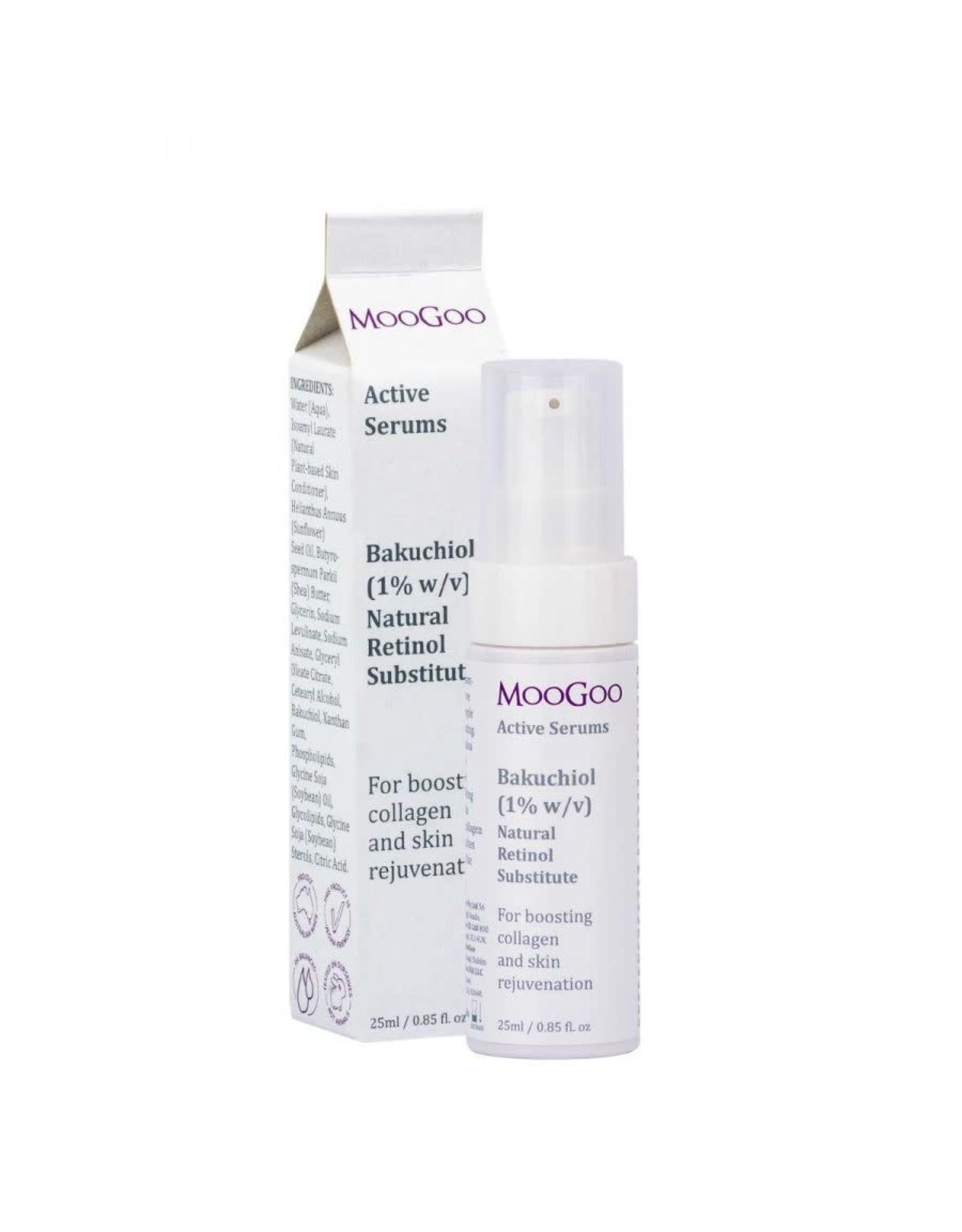 Moogoo Bakuchiol (1% w/v) Natural Retinol Substitute Active Serum 25ml