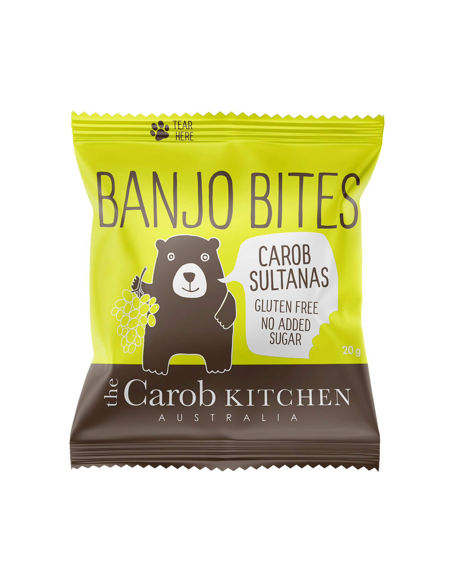 The Carob Kitchen Carob Sultanas Banjo Bits 20g