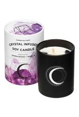 Summer Salt Body Crystal Soy Candle Amethyst Sandalwood & Vanilla