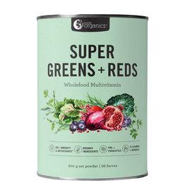 NutraOrganics Super Greens + Reds Powder 300g