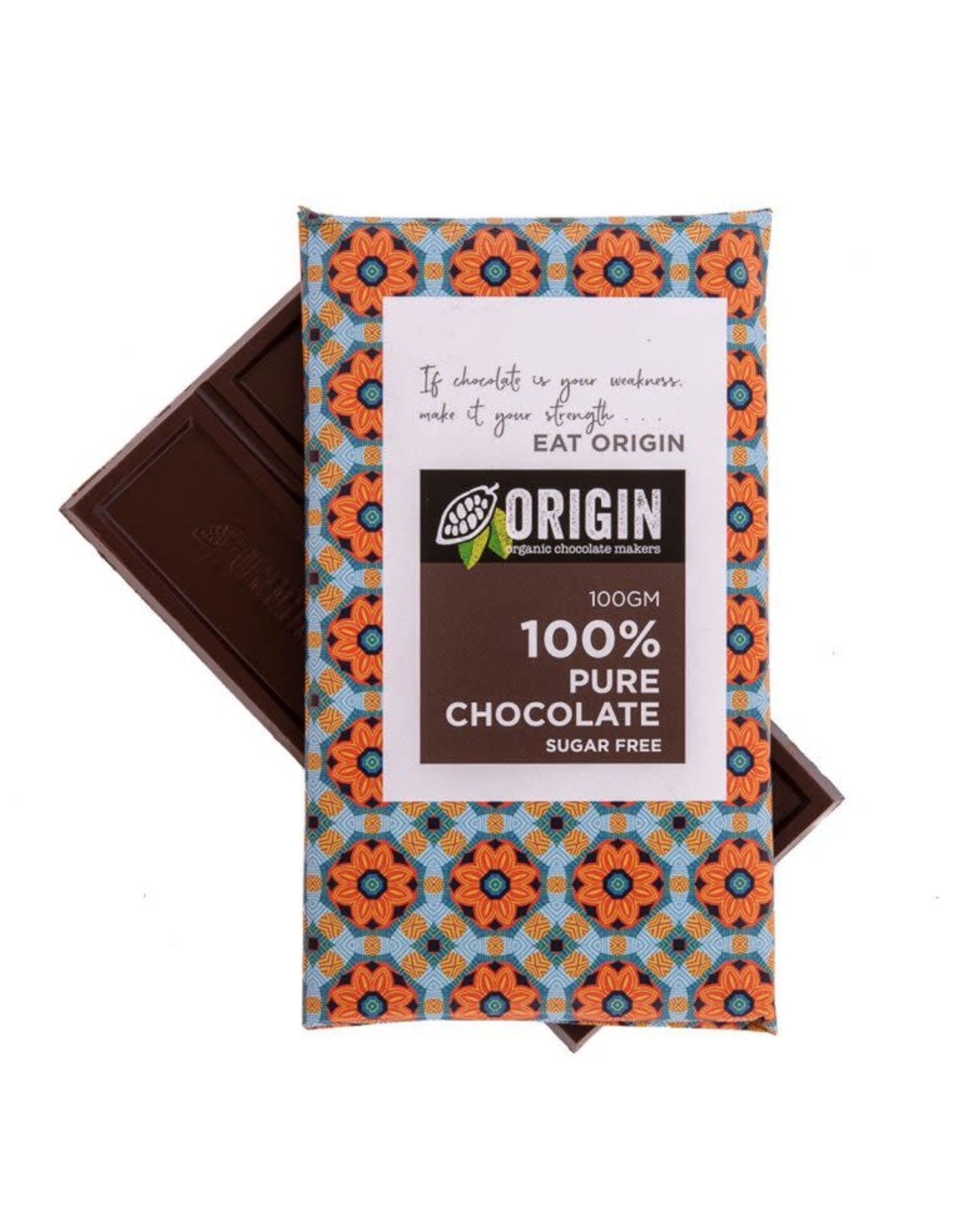 Origin Chocolate 100% Pure Cacao Vegan Chocolate 100gm