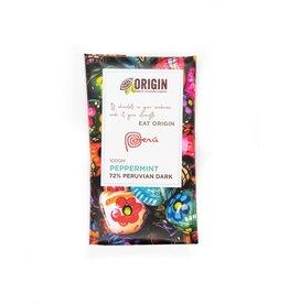 Origin Chocolate Peppermint Vegan Chocolate - 72% Peruvian Cacao 100gm